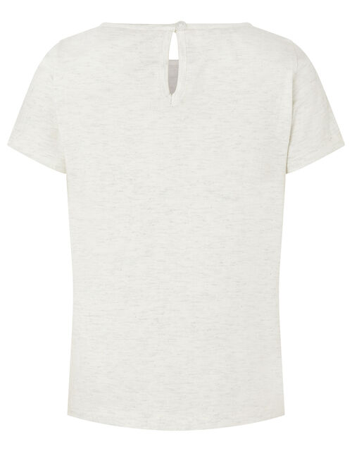 Zeena Sequin Zebra T-shirt, Ivory (IVORY), large