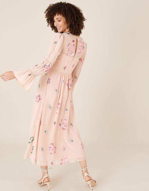 Hayley Embroidered Floral Tea Dress, Pink (PINK), large