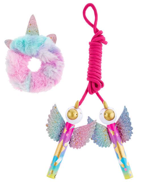 Unicorn Skipping Rope and Scrunchie Set, , large