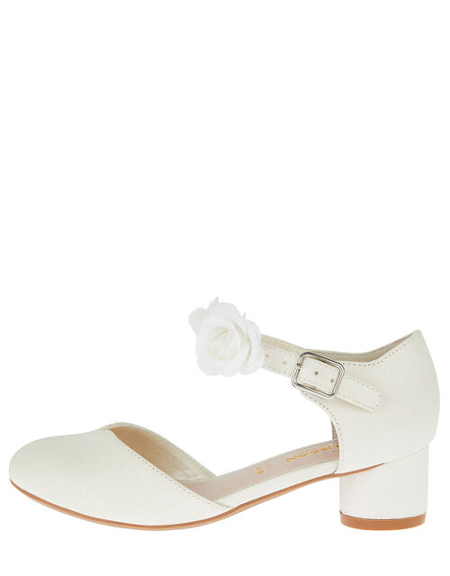 Shimmer Corsage Heels, Ivory (IVORY), large
