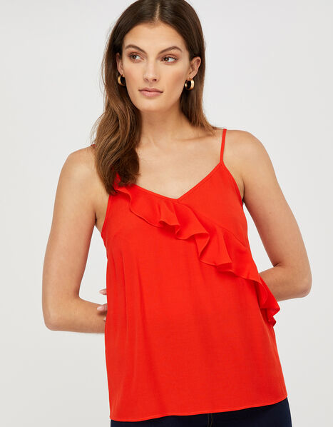 Bella Frill Cami Top Red, Red (RED), large