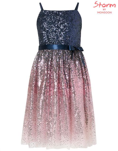 Ombre Sequin Prom Dress, Multi (MULTI), large