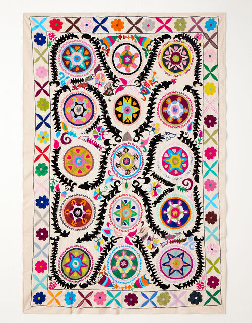 Embroidered Large Throw , , large