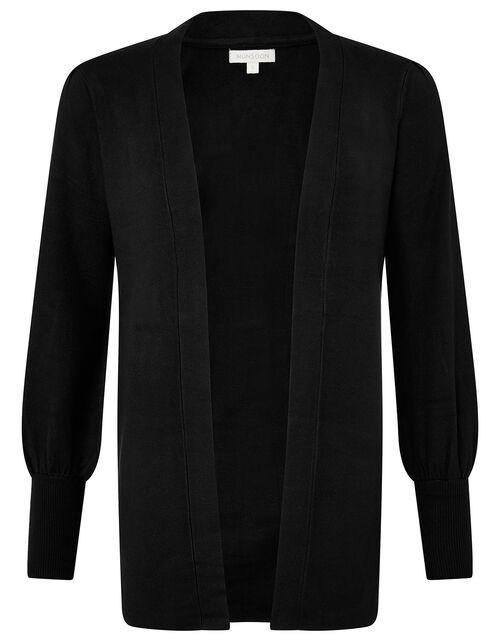 Blouson Sleeve Cardigan with LENZING™ ECOVERO™, Black (BLACK), large