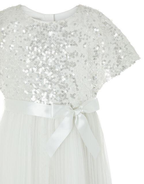 Truth Cape Sleeve Sequin Dress, Ivory (IVORY), large