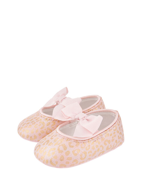 Baby Leonie Leopard Bootie Shoes, Pink (PALE PINK), large