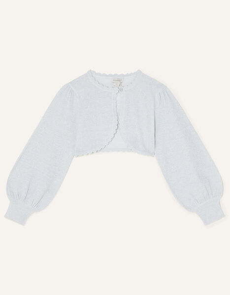 Statement Sleeve Cardigan Silver, Silver (SILVER), large