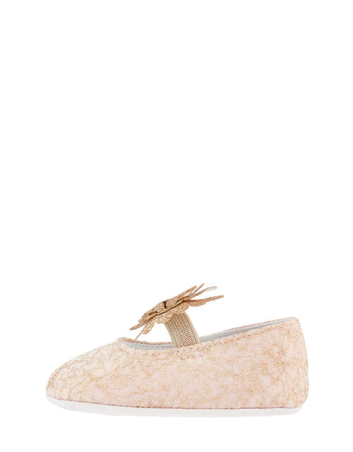 Baby Honey Lace Bow Booties, Pink (PALE PINK), large