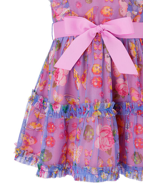 Baby Britney Butterfly Dress, Purple (PURPLE), large