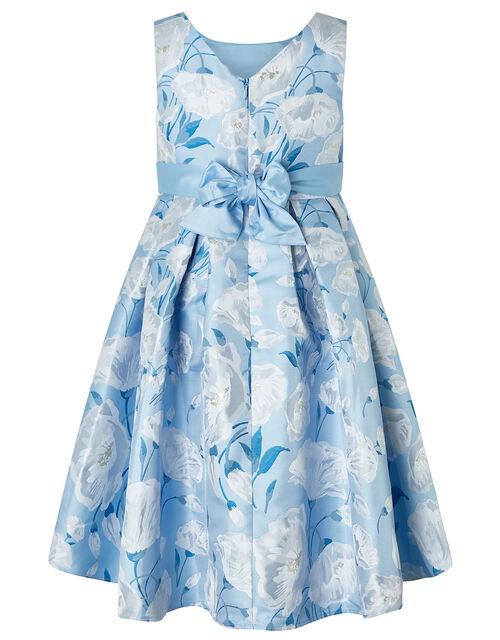 Naya Jacquard High-Low Occasion Dress, Blue (BLUE), large