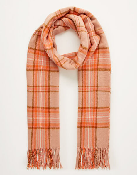 Check Midweight Scarf, , large