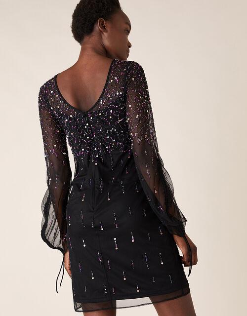 Henrietta Heart Sequin Tunic Dress, Black (BLACK), large