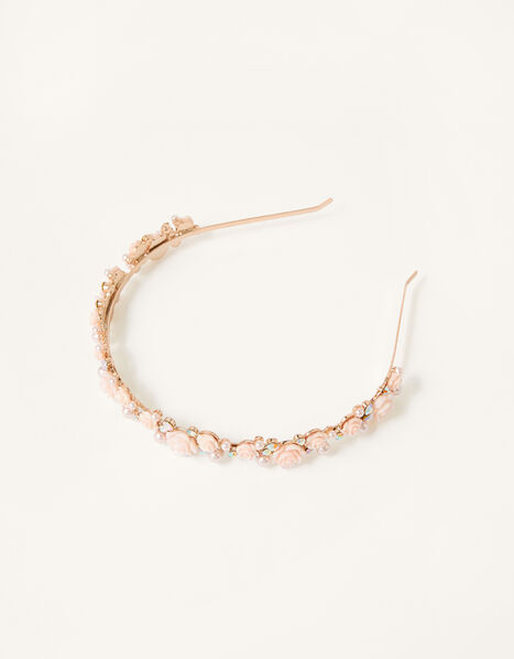 Frosted Pearl Rose Headband , , large