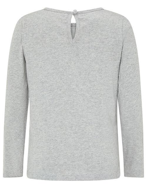Jessie Sequin Unicorn Jersey Top, Grey (GREY), large