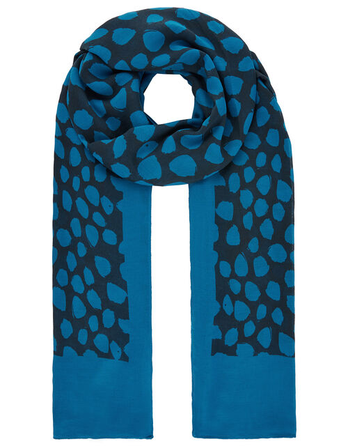 Animal Print Lightweight Scarf in Recycled Fabric, , large