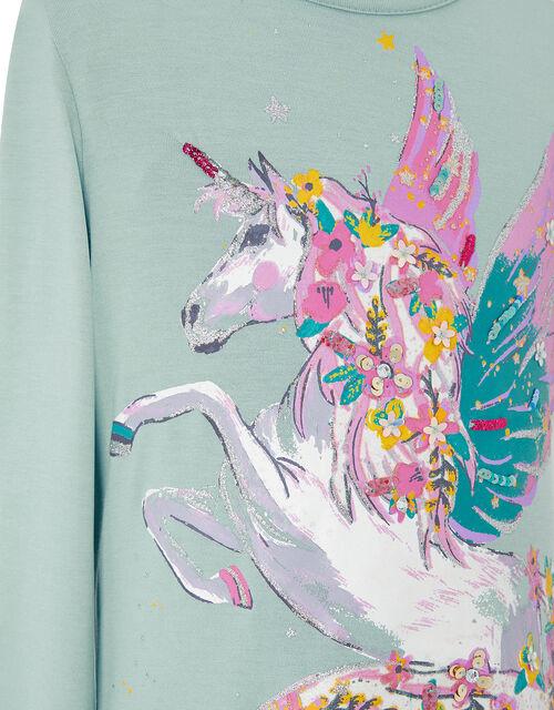 Pegasus Glitter Top with LENZING™ ECOVERO™, Blue (AQUA), large