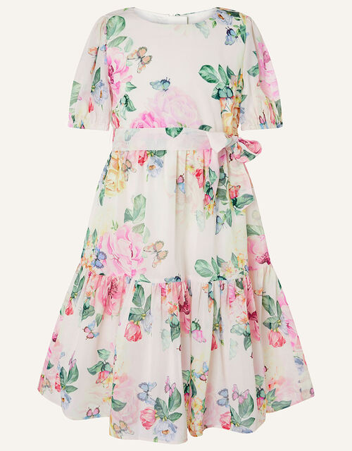 Rose Print Chiffon Dress, Multi (MULTI), large