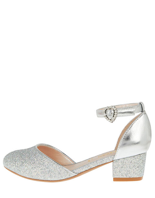 Glitter Two-Part Heels, Silver (SILVER), large