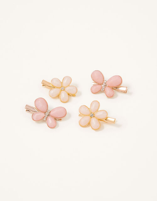 Pearly Flower and Butterfly Clips, , large