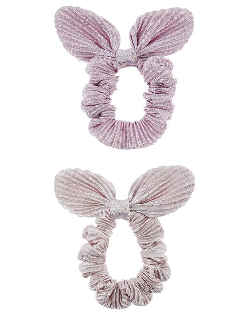 Shimmer Bow Hair Scrunchies, , large