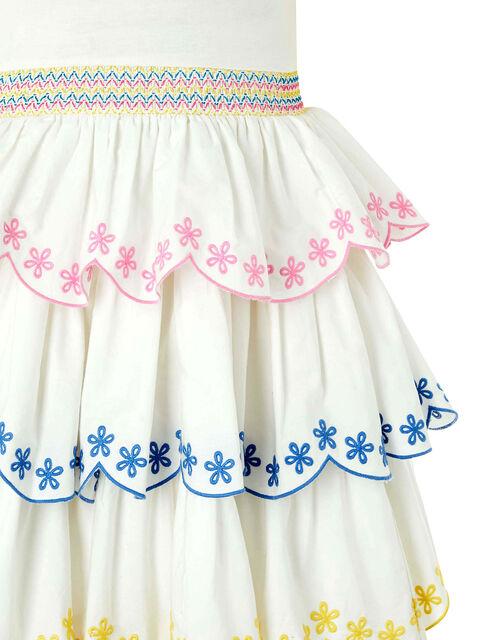 Shreya Embroidered Rara Dress, White (WHITE), large