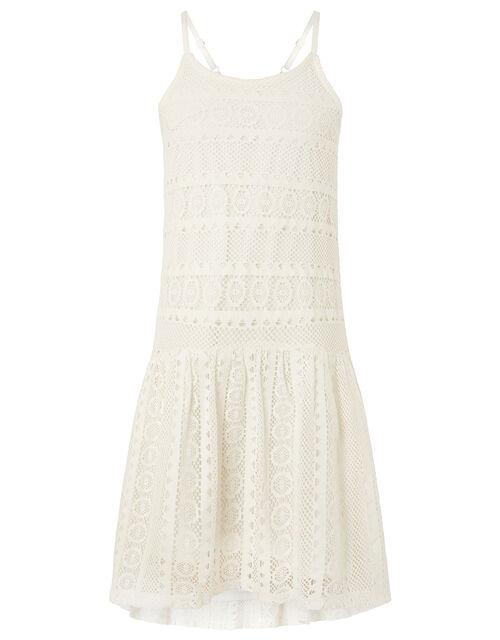 Cutwork Lace Dress, Ivory (IVORY), large