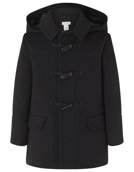 Duffle Coat Black, Black (BLACK), large