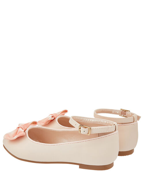 Bow Ballerina Flat Shoes, Pink (PALE PINK), large