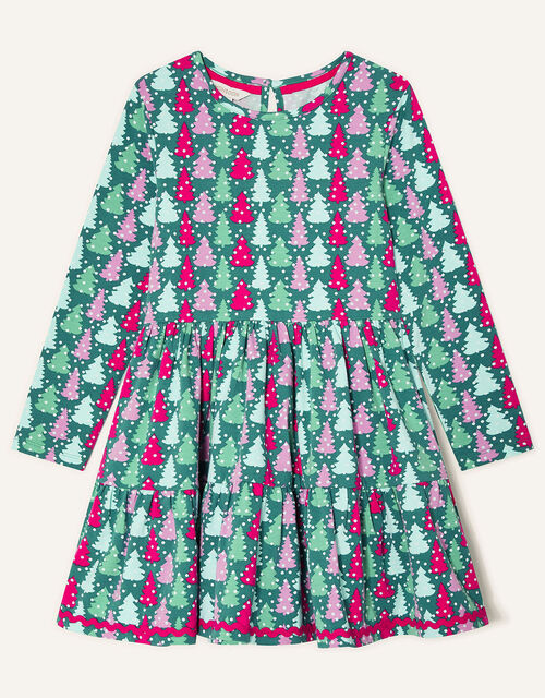 Christmas Tee Jersey Dress, Green (GREEN), large
