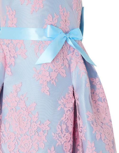 Valeria Lace Occasion Dress, Blue (BLUE), large