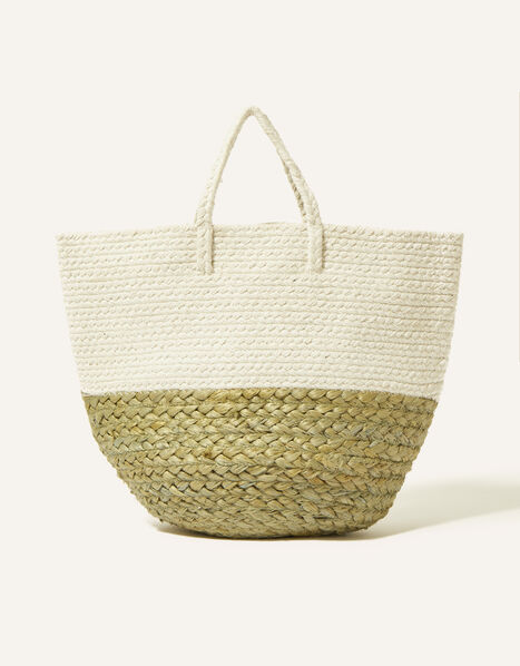 Border Jute Basket, , large
