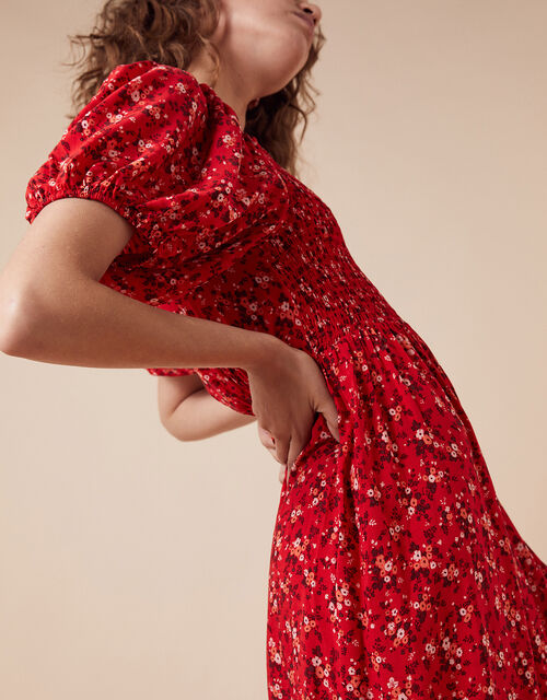 Mandi Ditsy Floral Maxi Dress, Red (RED), large