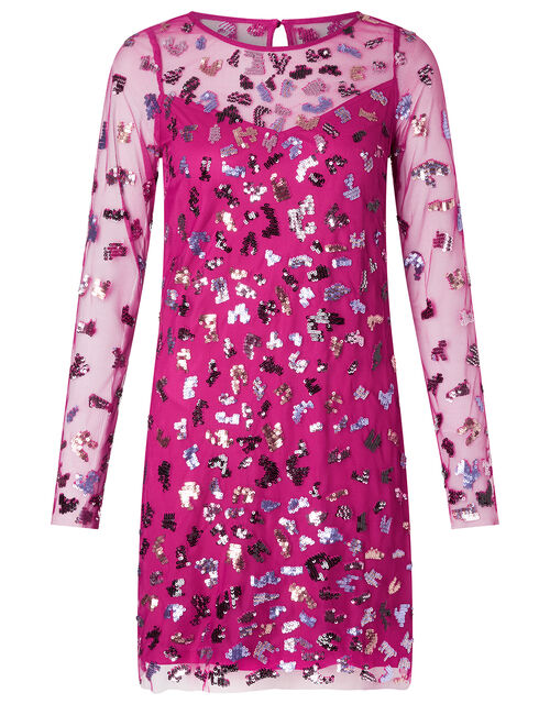 Eugiene Sequin Tunic Dress, Pink (PINK), large