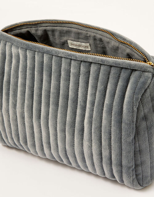 Large Quilted Makeup Bag, , large