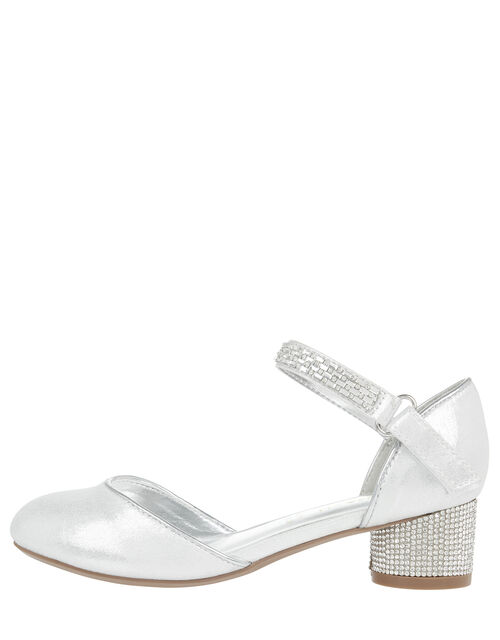 Nora Diamante Strap Two-Part Shoes, Silver (SILVER), large