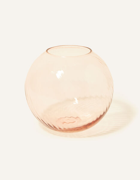 Sphere Ridge Glass Vase, , large