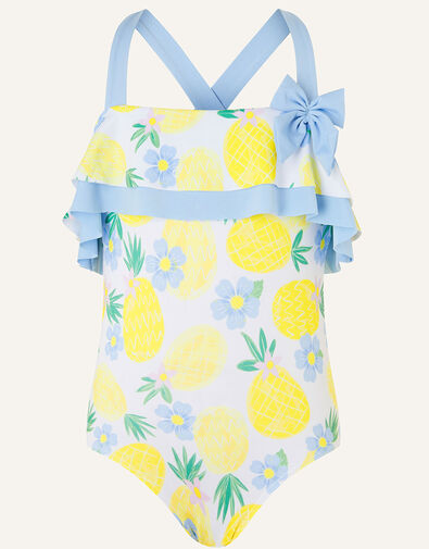 Pineapple Frill Swimsuit Yellow, Yellow (YELLOW), large