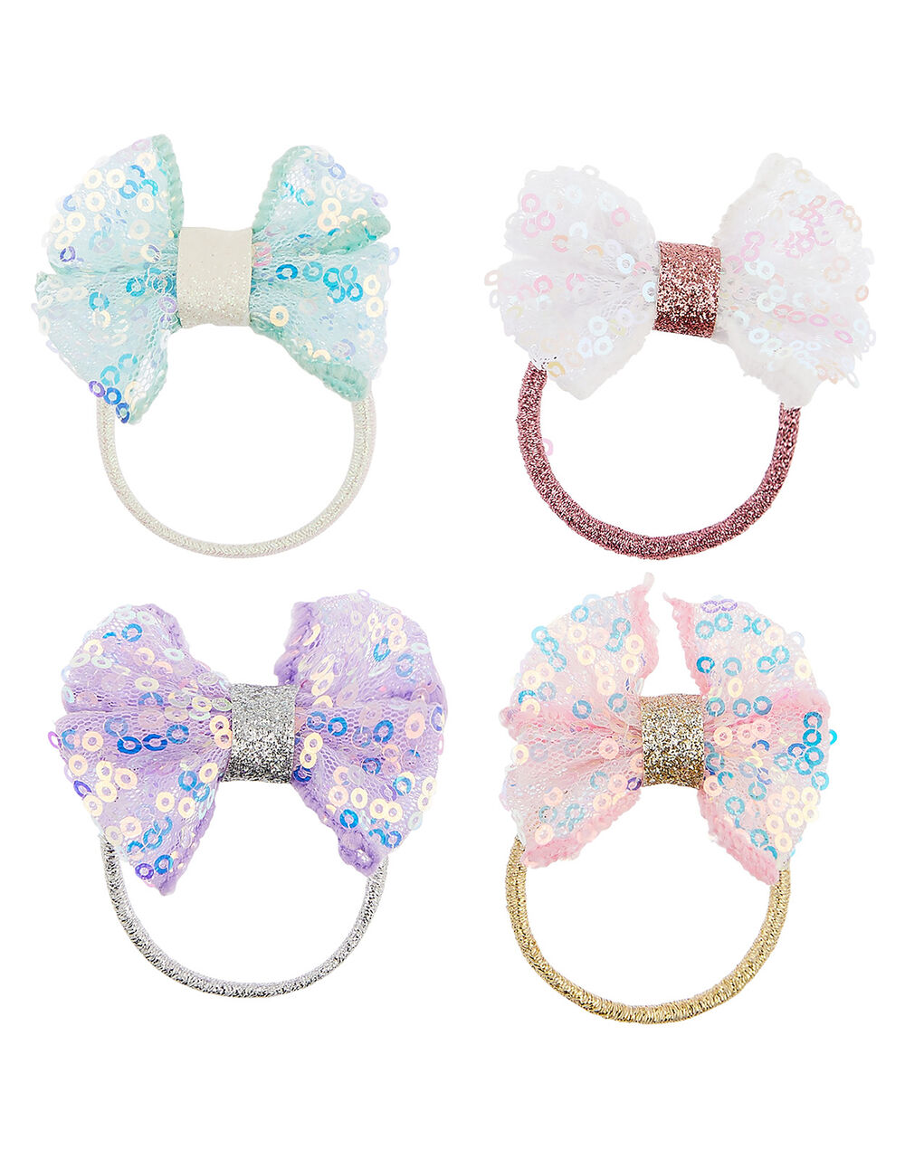 Sequin Fun Bow Hairbands, , large