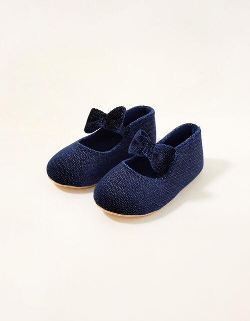 Velvet Walker Shoes, Blue (NAVY), large