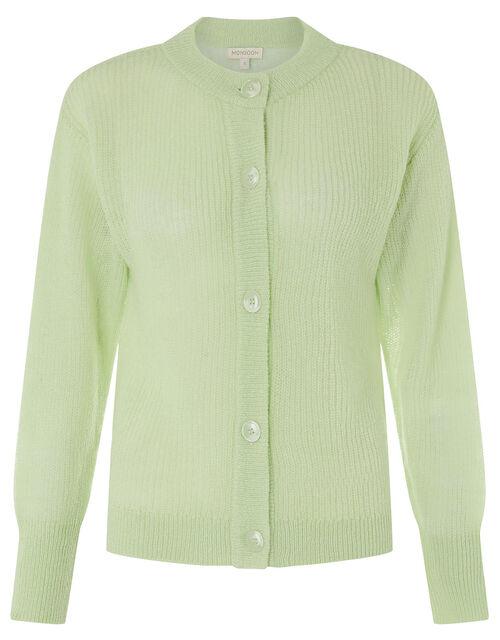 Button-Through Short Cardigan, Green (MINT), large