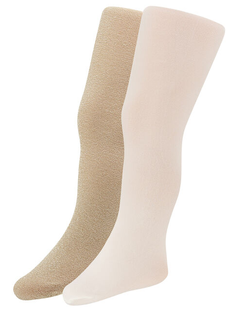 Baby Sparkly Tights Set, Gold (GOLD), large