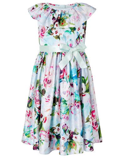 Heidi Floral Dress in Recycled Fabric Multi, Multi (MULTI), large