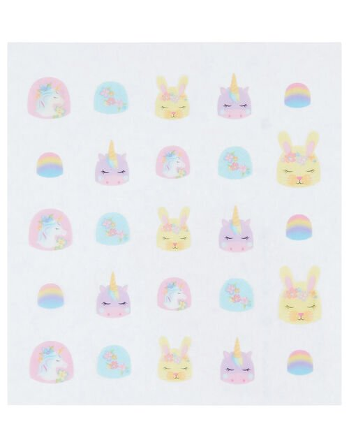 Fun Times Unicorn Nail Stickers Pack, , large