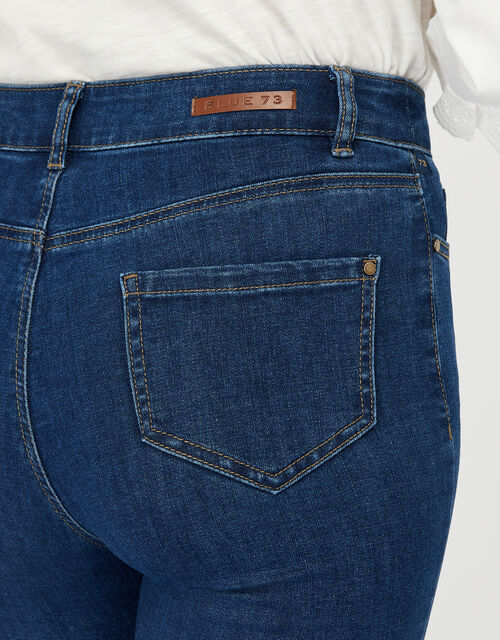 Iris Short Length Jeans with Organic Cotton and Recycled Polyester, Blue (DENIM BLUE), large