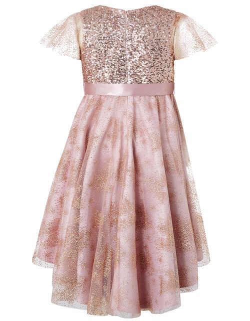Abilene Sequin Sparkle Party Dress, Pink (DUSKY PINK), large