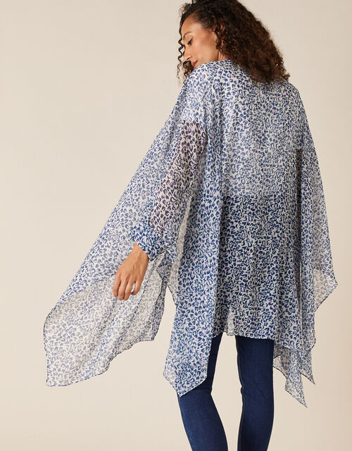 Leopard Print Open Cover-Up, , large
