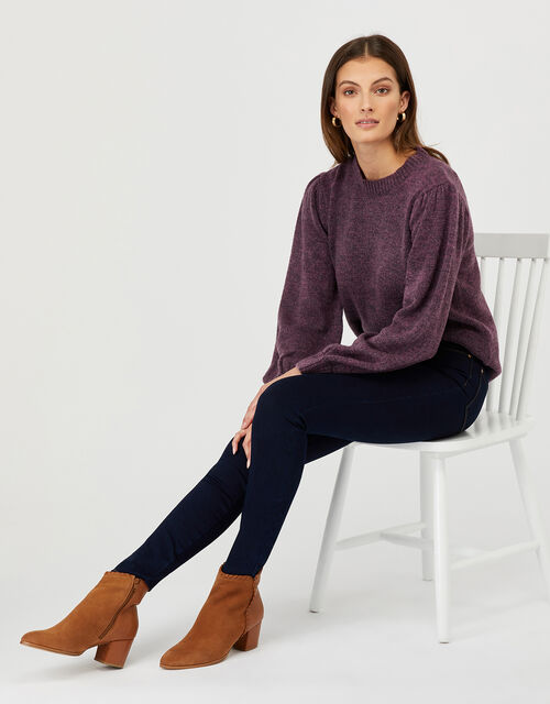 Lula Knit Jumper, Purple, large