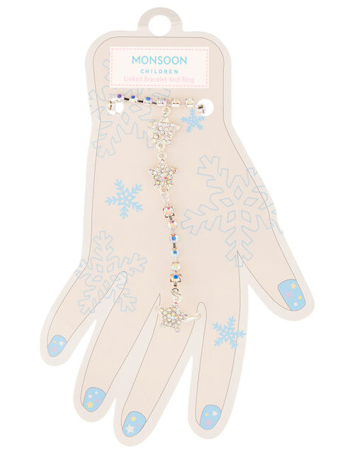 Sparkle Star Linked Bracelet and Ring, , large