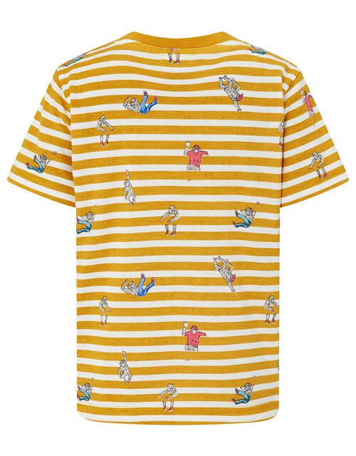 Scotty Striped Monkey T-Shirt, Yellow (MUSTARD), large