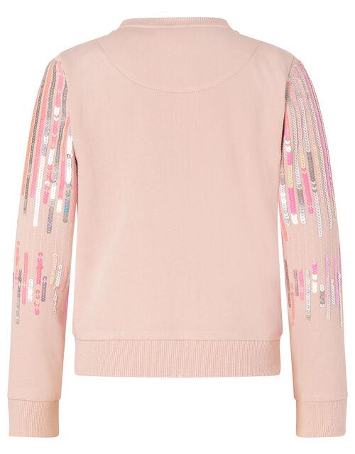 Sequin Bomber Jacket, Pink (PALE PINK), large
